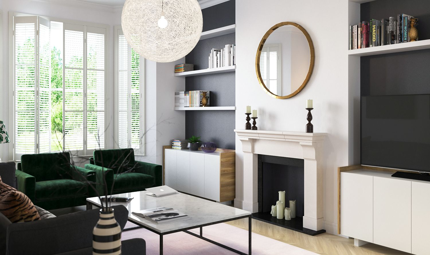 captivating modern eclectic living room | Contemporary Eclectic Interior Design