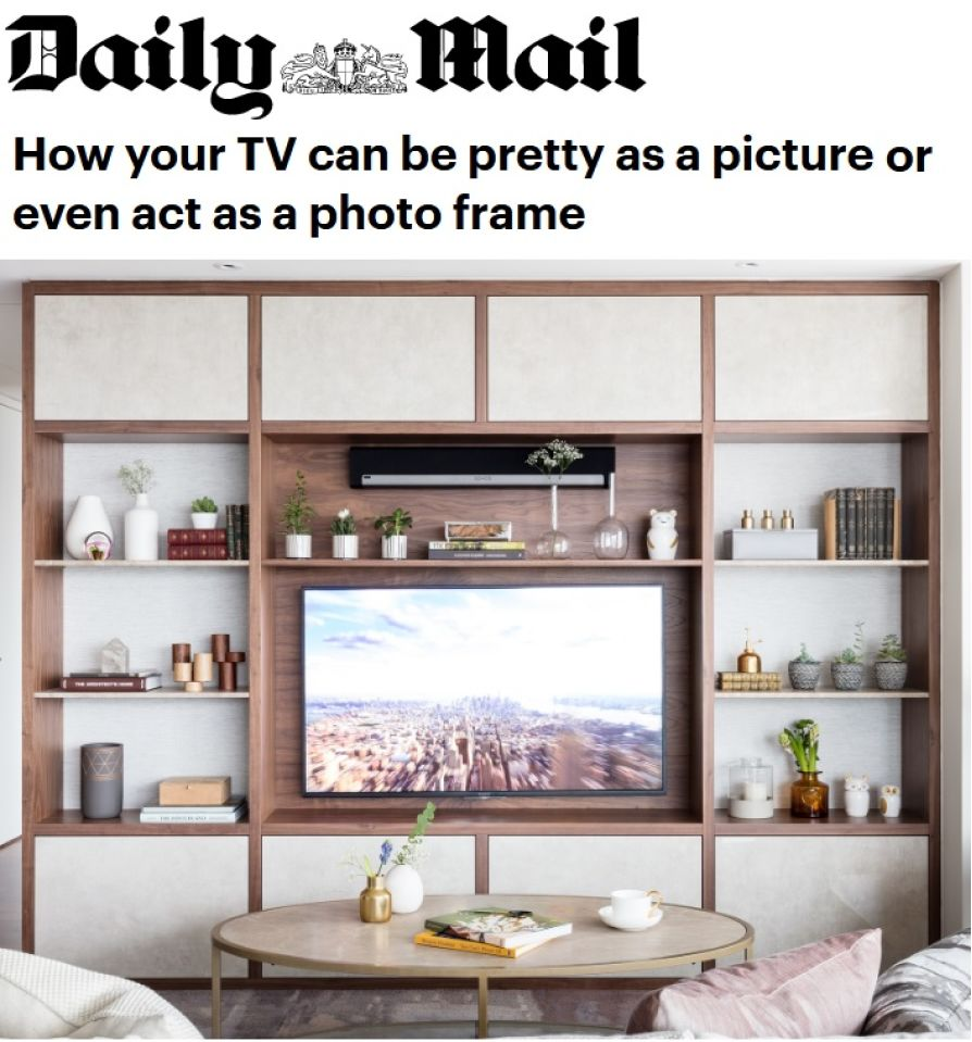 Feature In The Daily Mail Newspaper # Tables Home Cinema Et Televiseurs